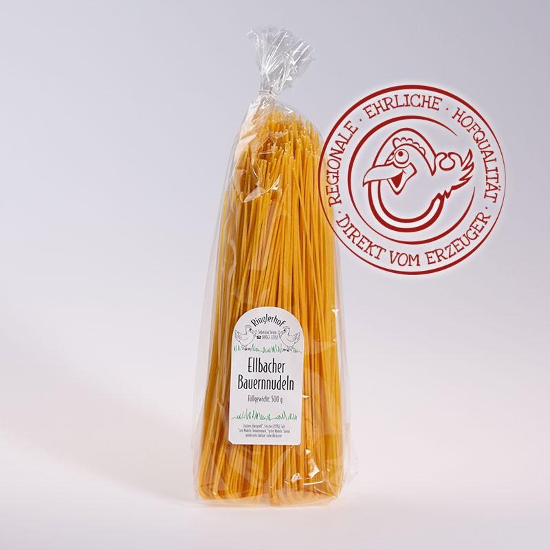 Eier Spaghetti 500g aus Hartweizengrieß und Eier aus eigener Herstellung im Hofladen vom Ringlerhof in Bad Tölz
