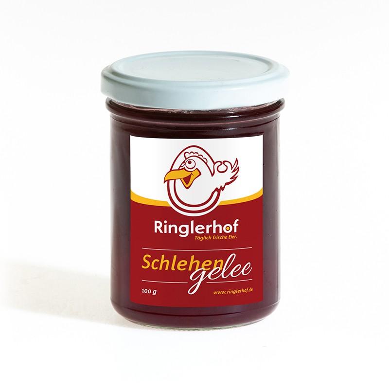 feines Schlehen Gelee aus Eigenproduktion im Hofladen vom Ringlerhof